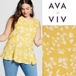 AVA & VIV Peplum Style Top